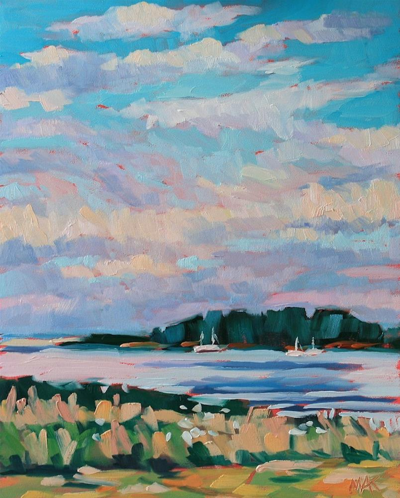 """View of Richmond Island"" original fine art by Mary Anne Cary"