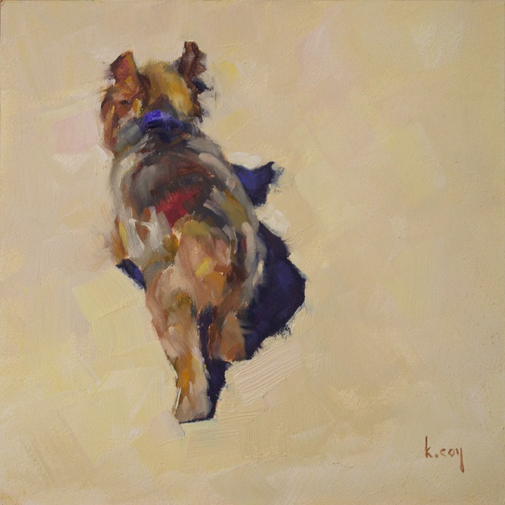 """Yorkie at High Noon"" original fine art by Kathleen Coy"