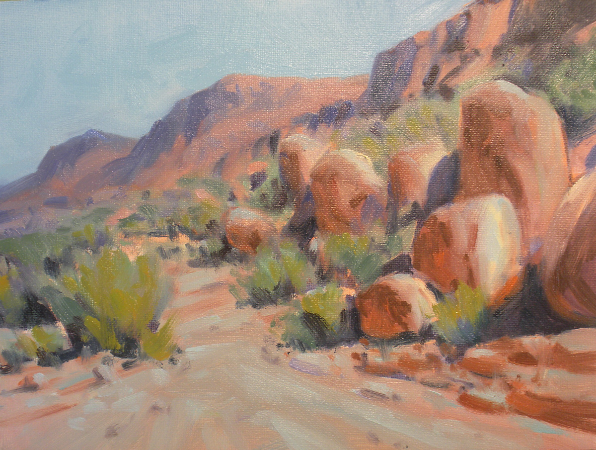 """Grapevine Hills"" original fine art by David Forks"