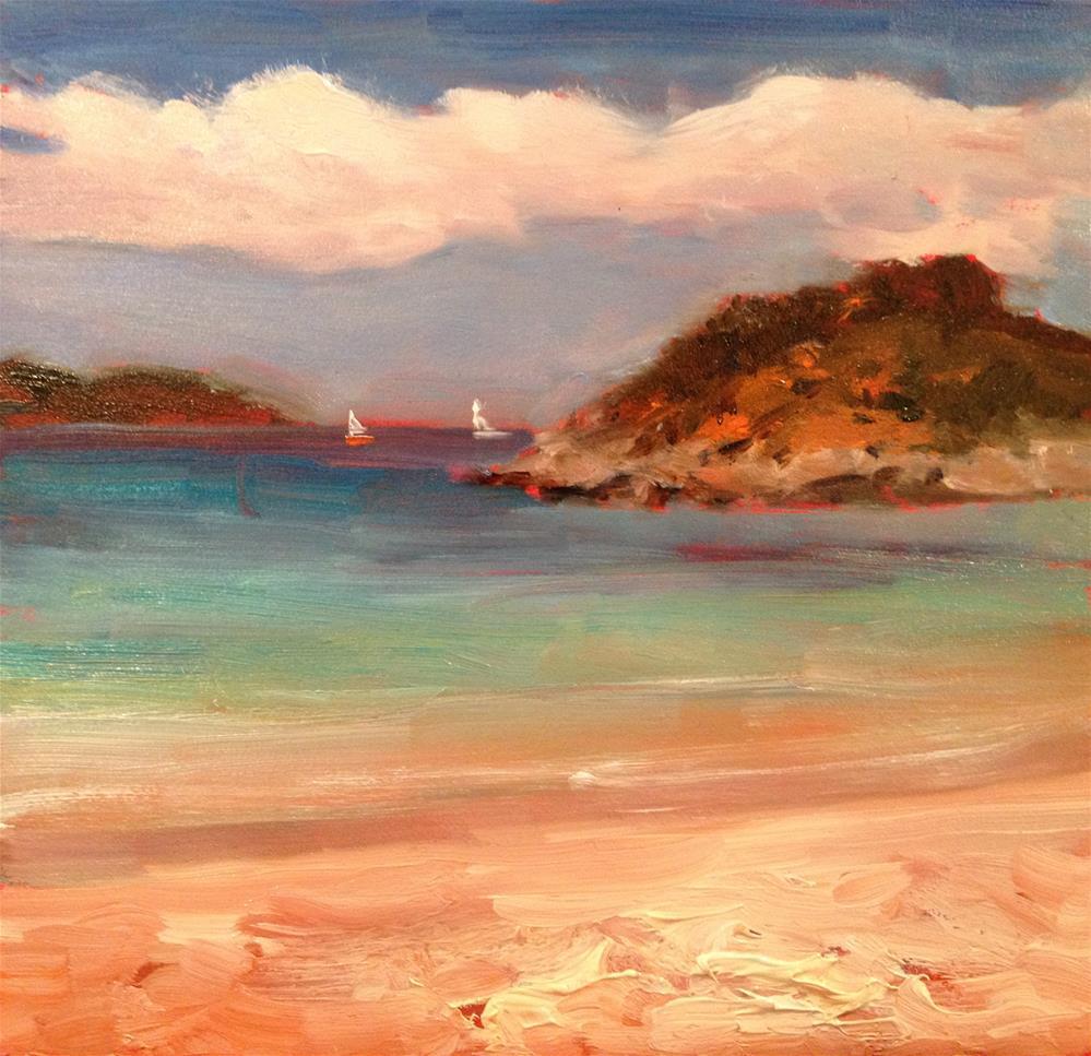 """Dreams of Trunk Bay"" original fine art by Claudia L Brookes"
