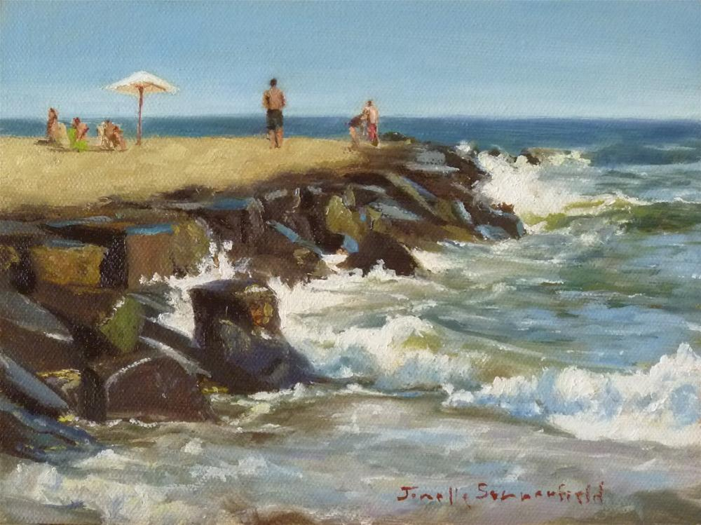 """Cape May Jetty"" original fine art by Jonelle Summerfield"