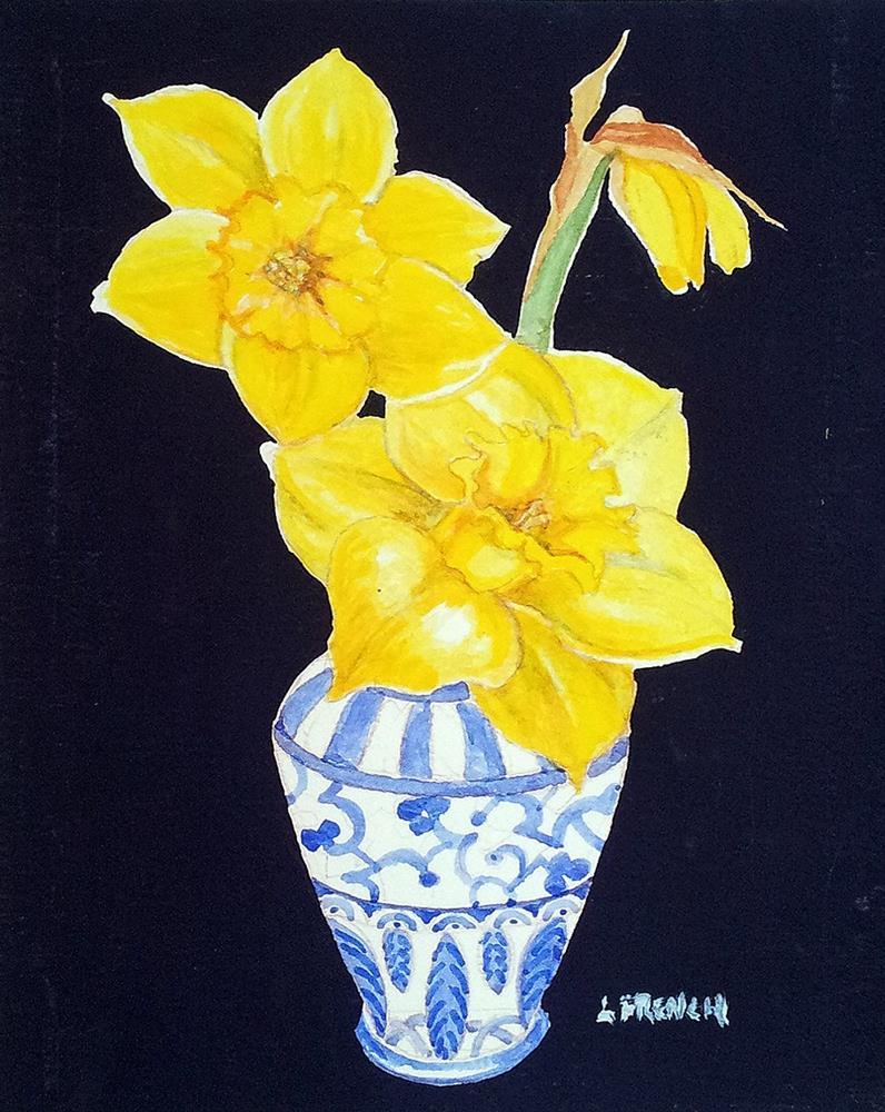 """""""Wild Daffodils"""" original fine art by lynne french"""