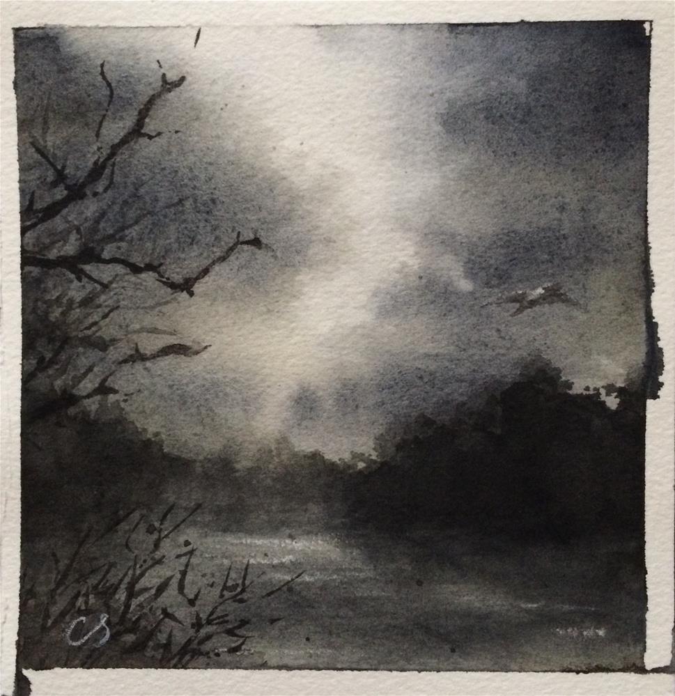 """Huron River, Winter"" original fine art by Claudia Selene"