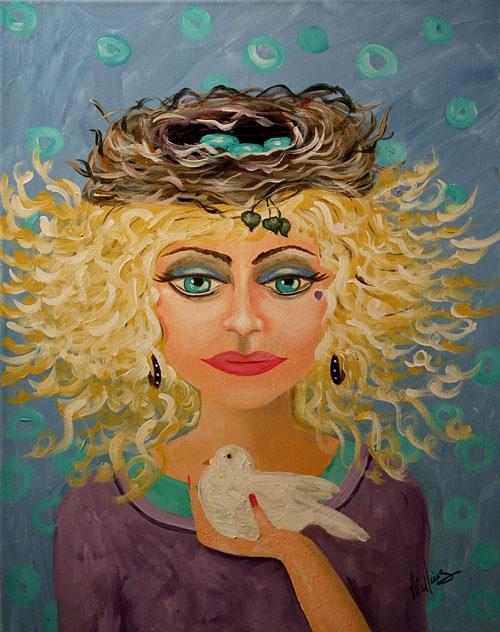 """""""Delicate Delaney"""" original fine art by Sunny Williams"""