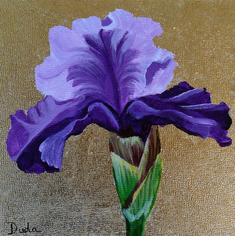 """Kim's Iris"" original fine art by Susan Duda"