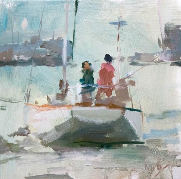 """""""Mainsail"""" original fine art by Randall Cogburn"""