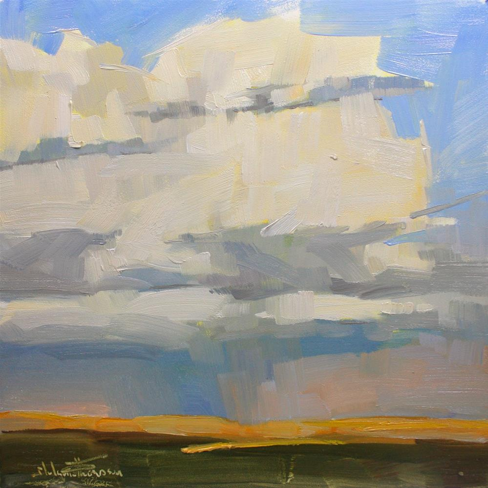 """Summer's Clouds"" original fine art by Melanie Thompson"