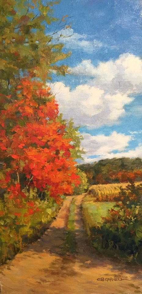 """'Fall Farm Lane' An Original Oil Painting by Claire Beadon Carnell"" original fine art by Claire Beadon Carnell"