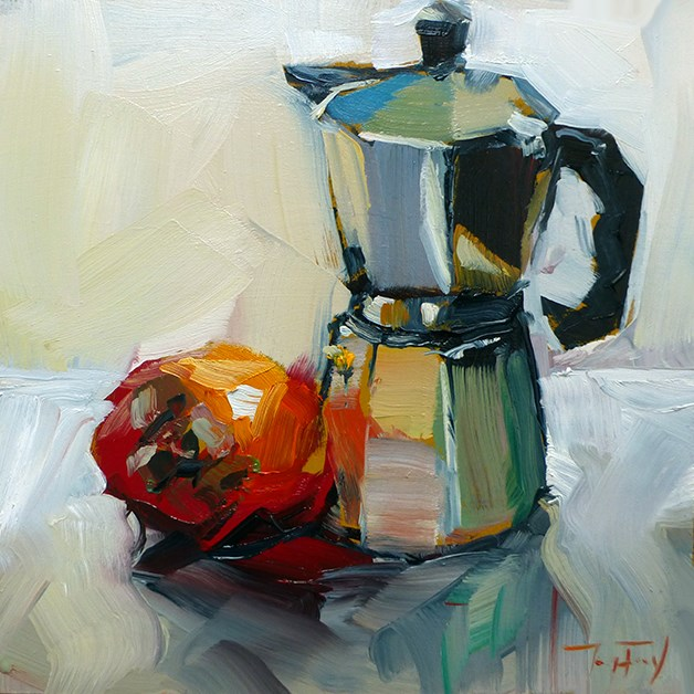 """Kaffeekocher"" original fine art by Jurij Frey"