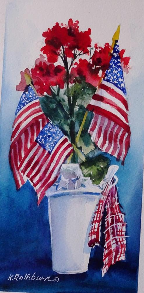 """Happy Fourth of July"" original fine art by Kathy Los-Rathburn"
