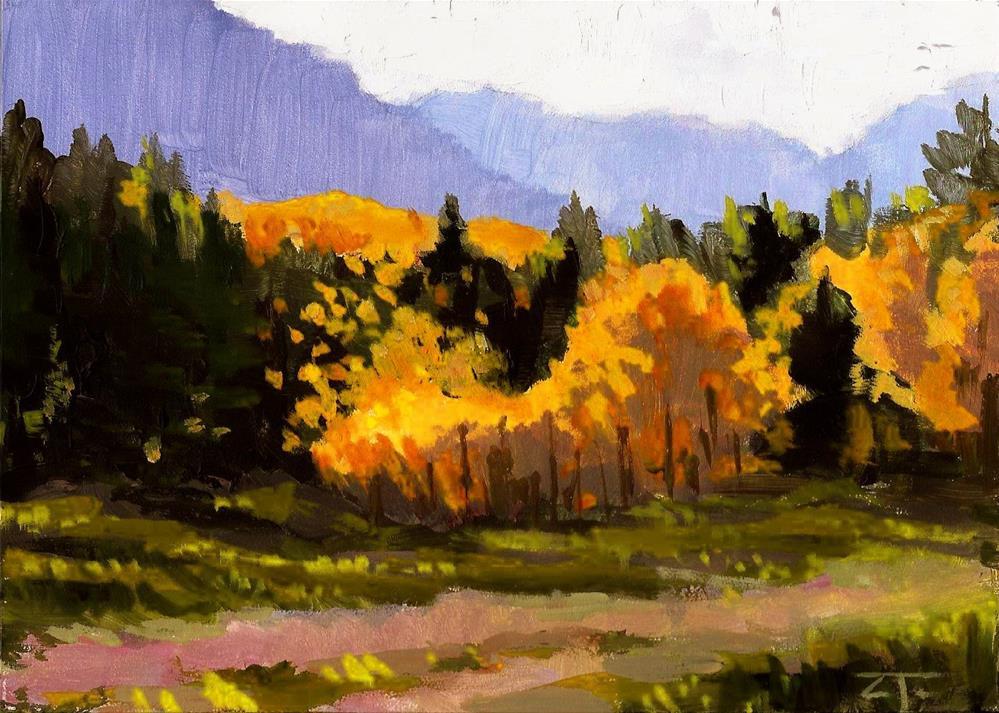 """Backlit Mill Creek"" original fine art by Zack Thurmond"