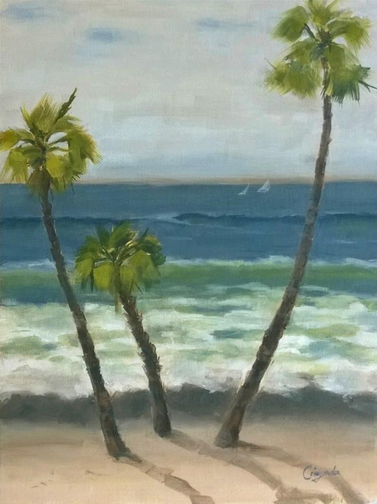 """South of San Clemente Pier"" original fine art by Crisynda Buss"
