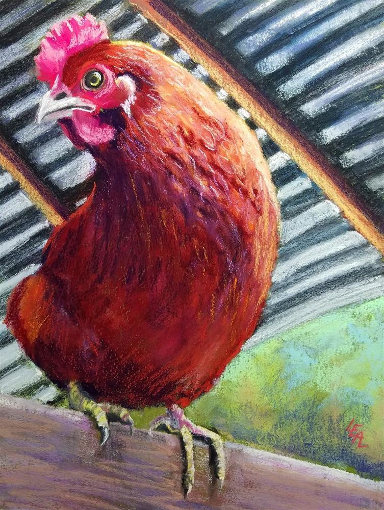 """Ms Gabbie Hoot"" original fine art by Anna Lisa Leal"