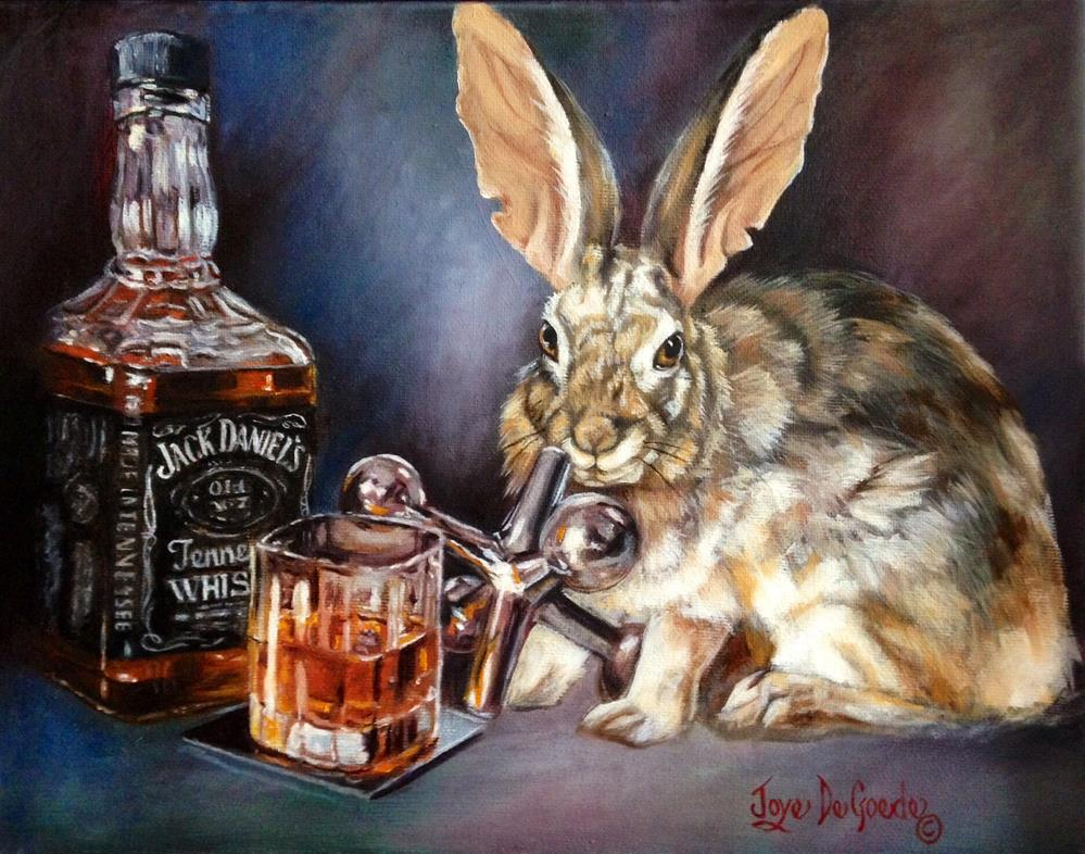 """One For The Road Jack by Joye DeGoede www.Joyesart.com"" original fine art by Joye DeGoede"