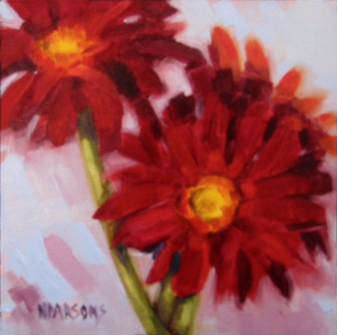 """Pocketful of Posies"" original fine art by Nancy Parsons"