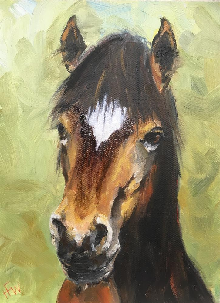 """Pony Bangs"" original fine art by H.F. Wallen"