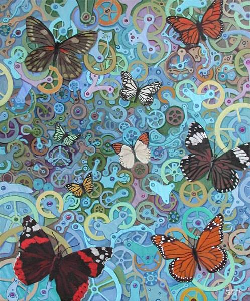 """""""Clockwork Butterflies No. 9"""" original fine art by Randal Huiskens"""