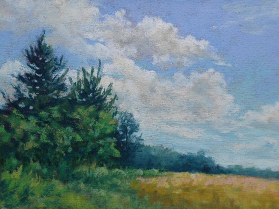 """Clouds Over Golden Field"" original fine art by Susan Klabak"
