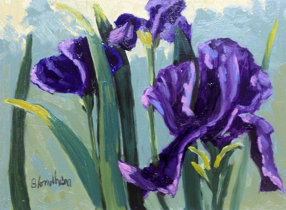 """Purple Iris"" original fine art by Linda Blondheim"