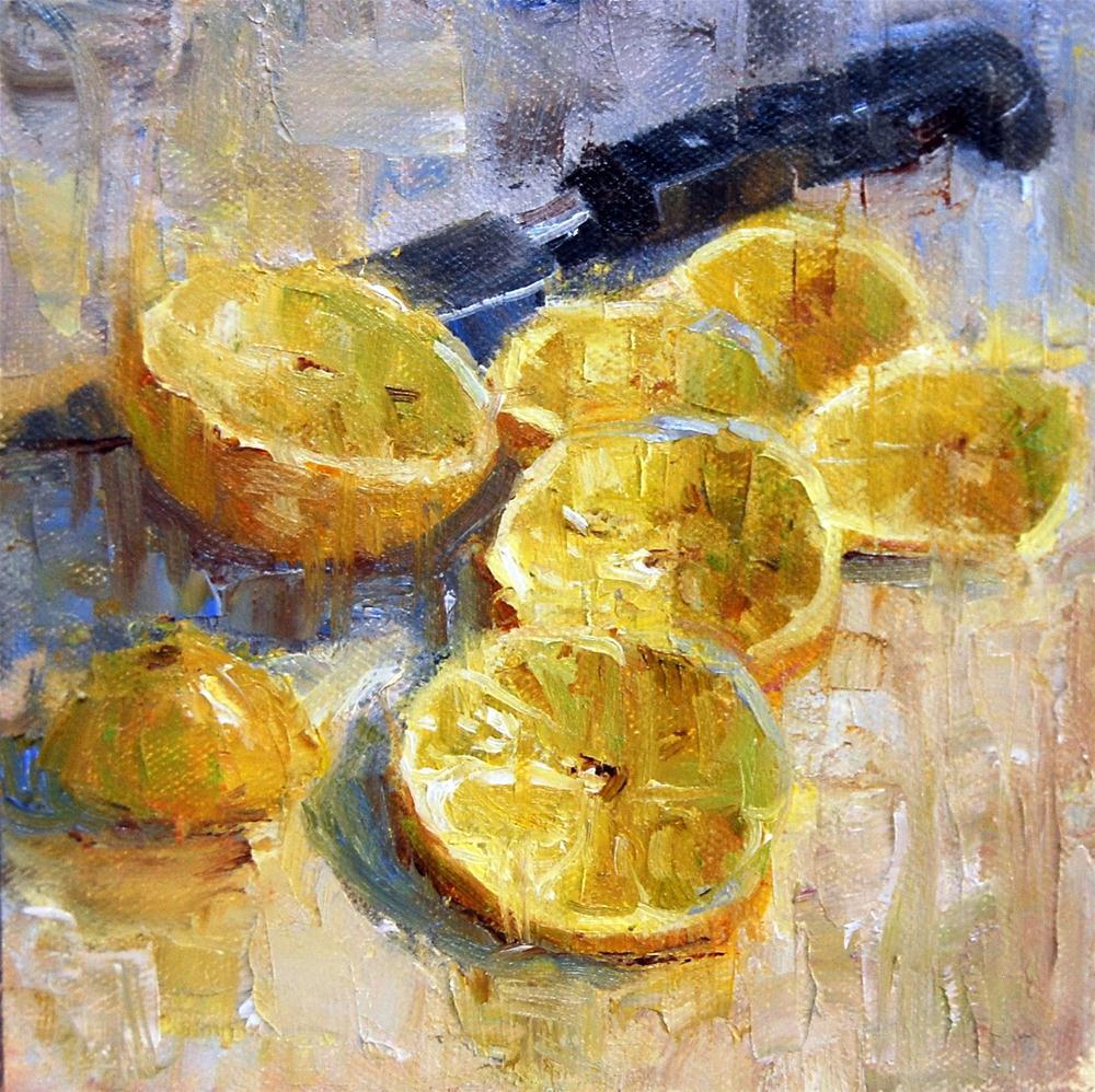 """""""Lemon Slices"""" original fine art by Julie Ford Oliver"""