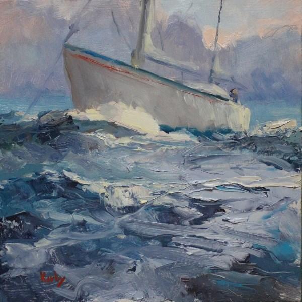 """Anchored off 27th"" original fine art by Randall Cogburn"
