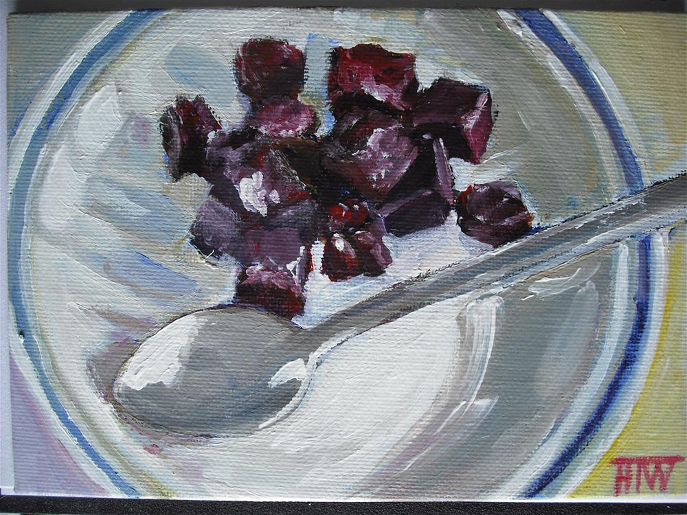 """Beetroot Salad"" original fine art by Heather Whiting"