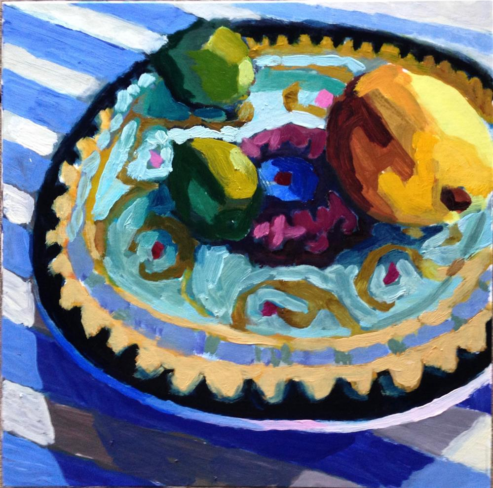 """Party On A Plate"" original fine art by Pamela Hoffmeister"