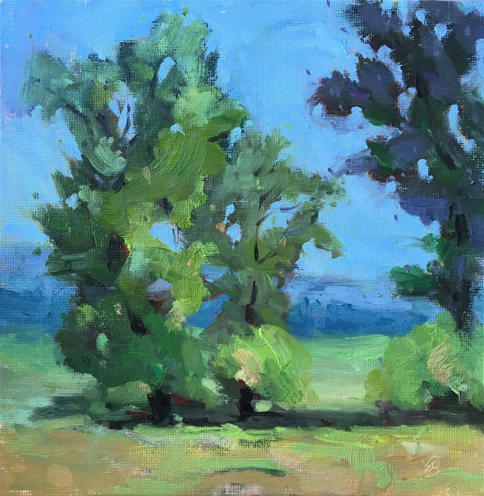 """Trees at the Farm"" original fine art by Victoria  Biedron"