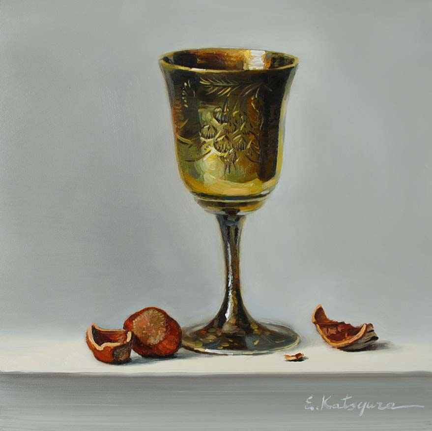 """Still Life with Hazelnut"" original fine art by Elena Katsyura"