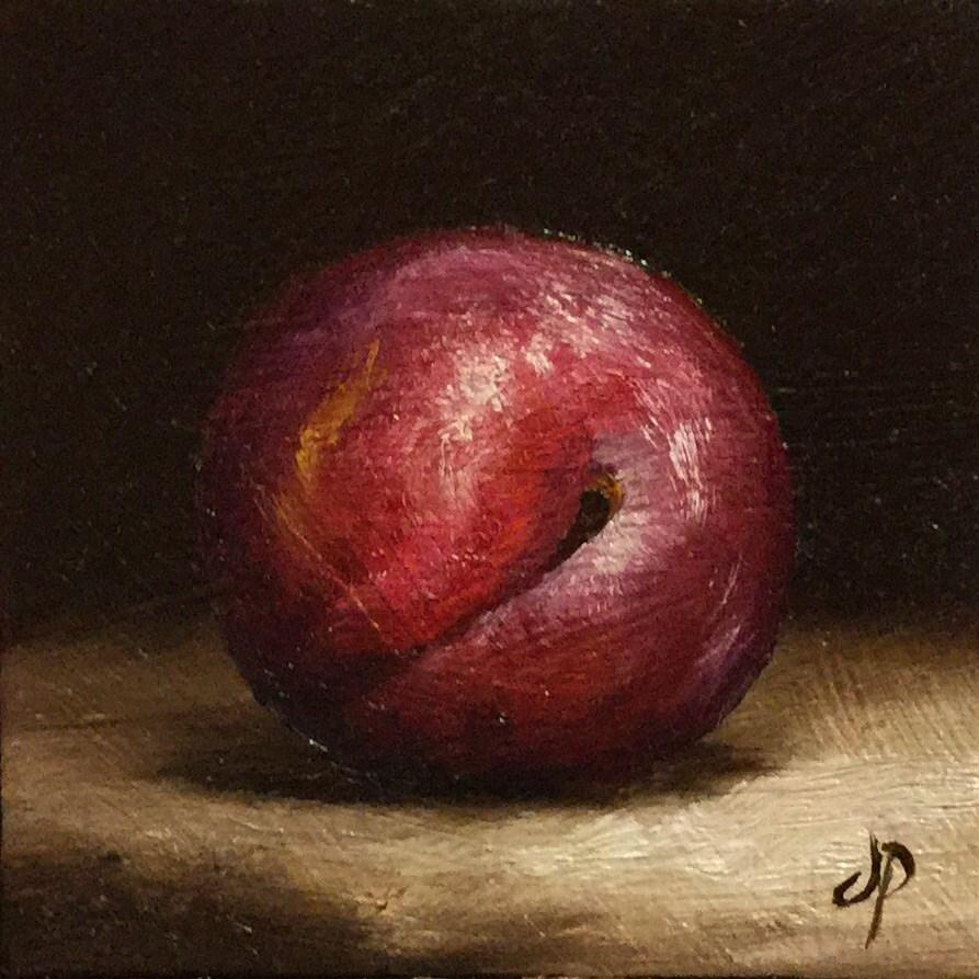 """Little Plum"" original fine art by Jane Palmer"