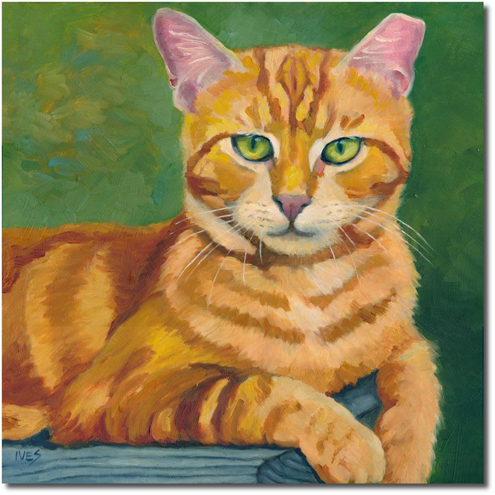 """Once A Feral - Blaze The Ginger Cat"" original fine art by Rk Ives"