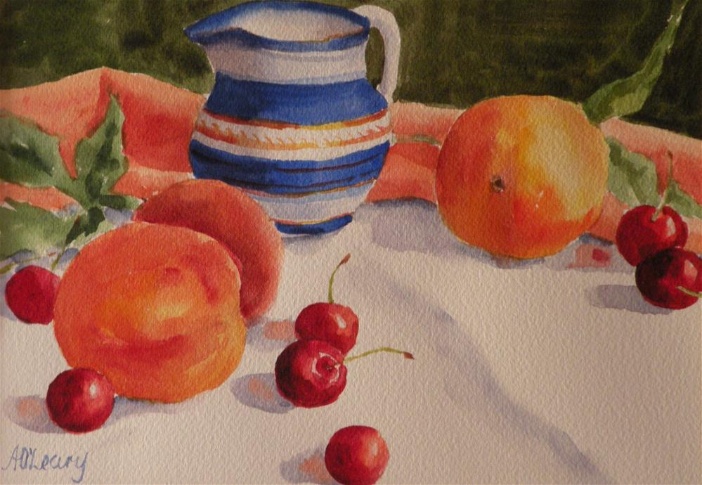 """Peaches and Cream"" original fine art by Alice O'Leary"
