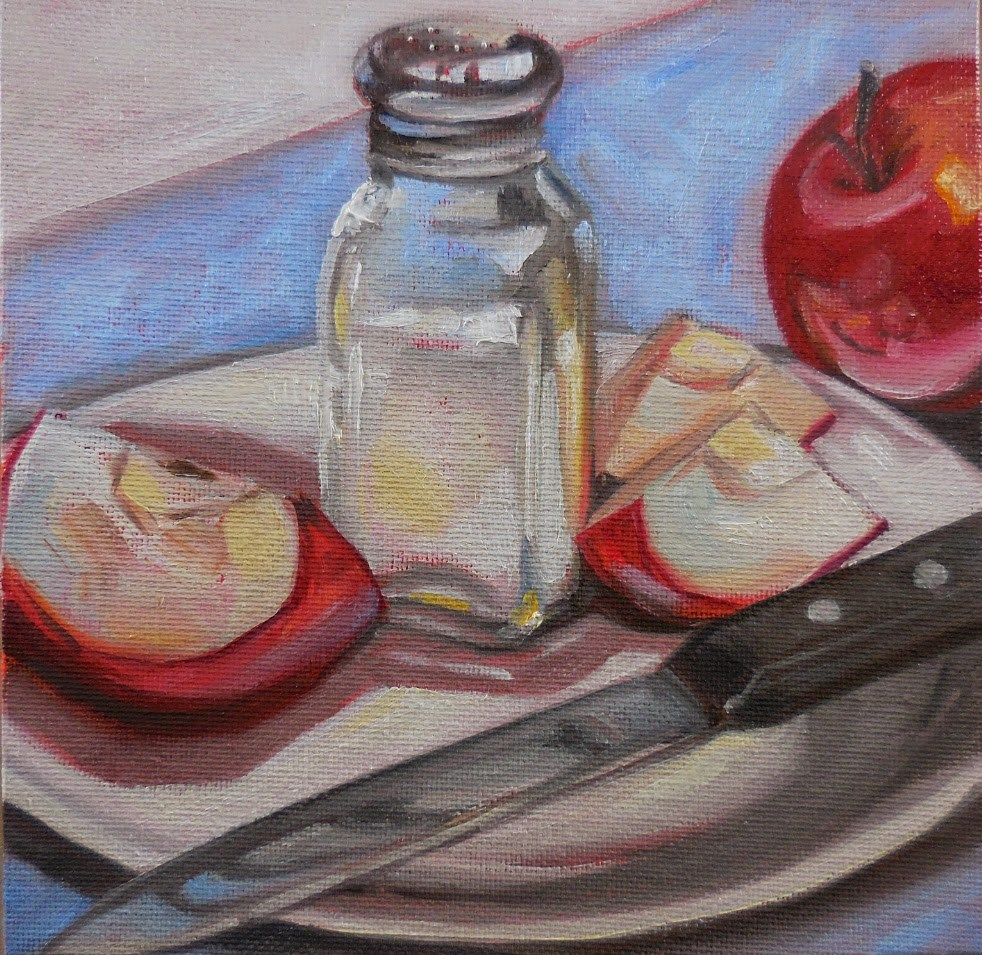 """Papa Graham's Salted Apples"" original fine art by Beth Moreau"