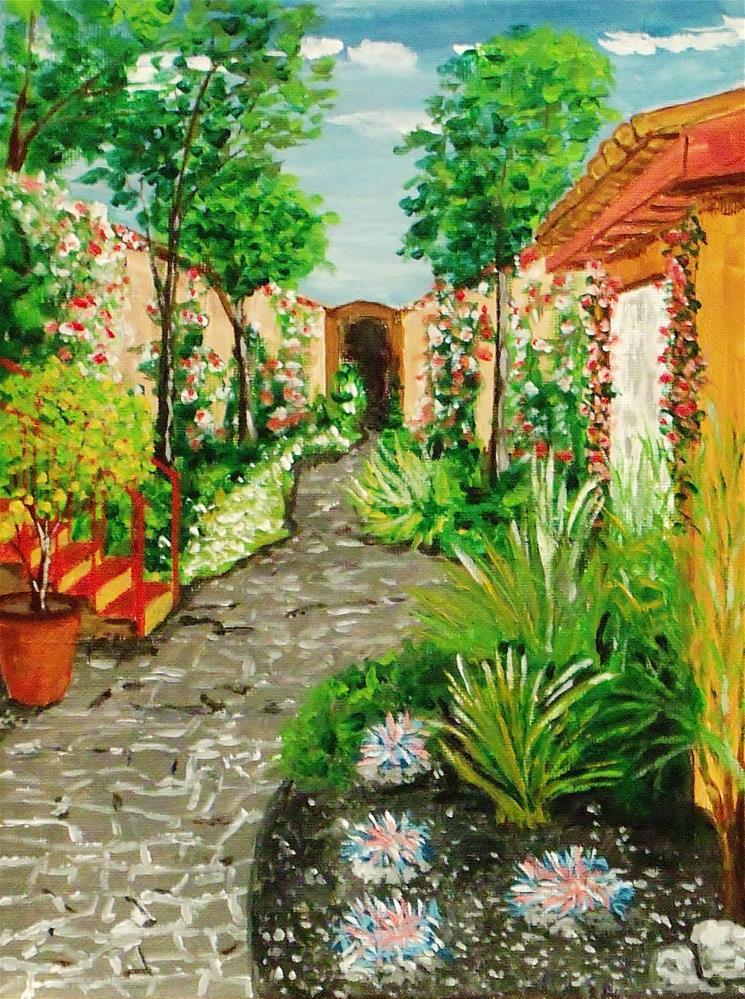 """Courtyard Fragrance"" original fine art by Mike Caitham"