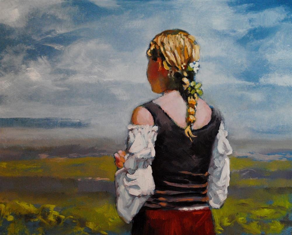 """Far Away"" original fine art by David Larson Evans"