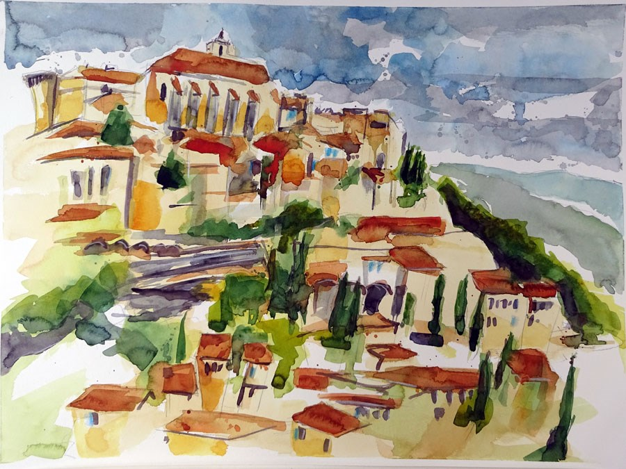 """1151 Gordes"" original fine art by Dietmar Stiller"