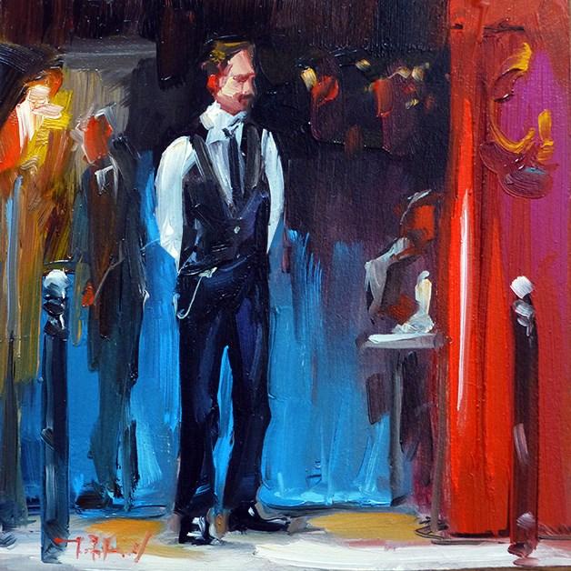 """Kellner"" original fine art by Jurij Frey"