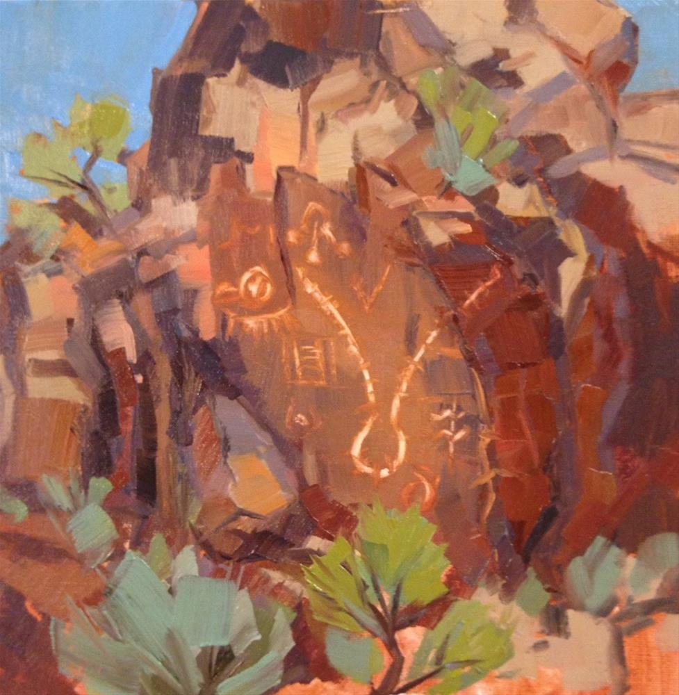 """The Zipper - Parowan Petroglyphs"" original fine art by Mary Jabens"