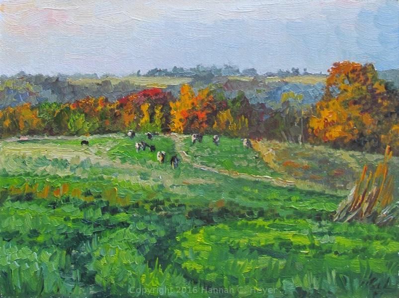 """Pastures in October"" original fine art by Hannah C. Heyer"