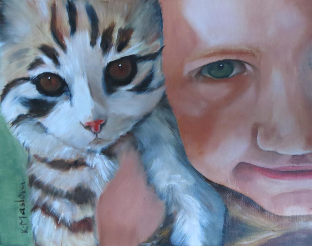 """Little"" original fine art by Kulli Maslova"