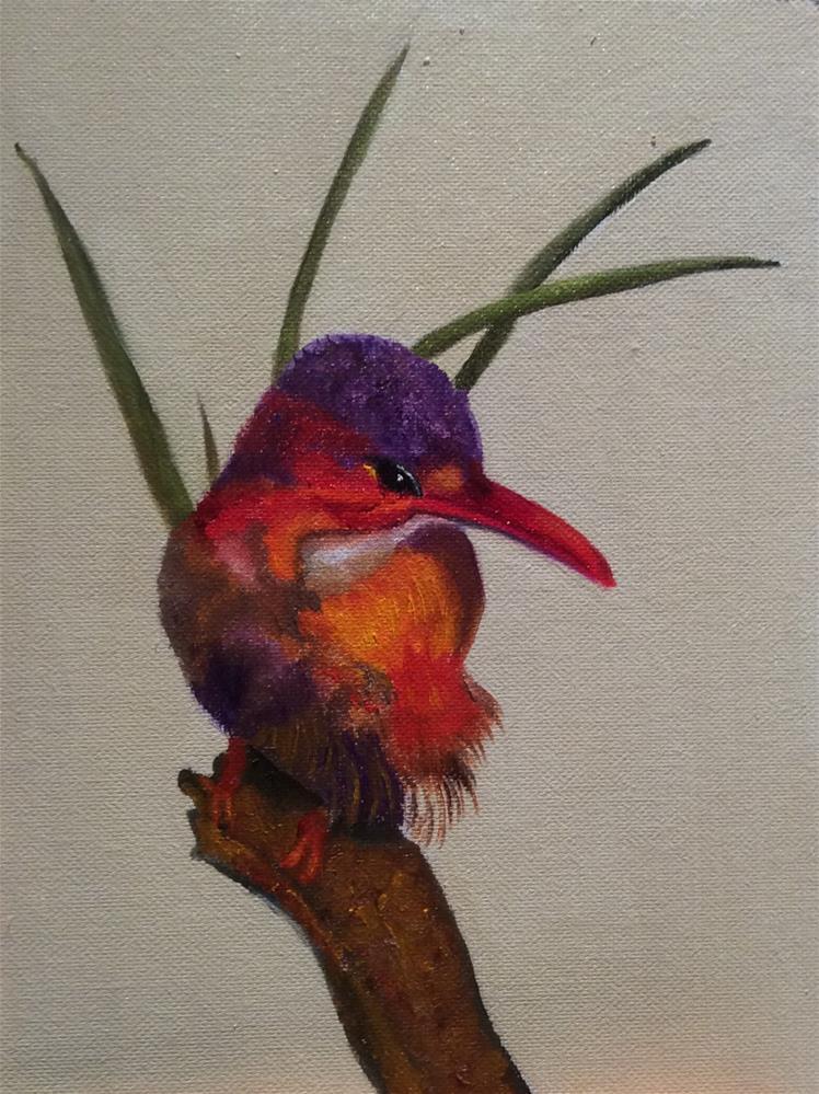 """Kookaburra I"" original fine art by Susan Hoffheimer"