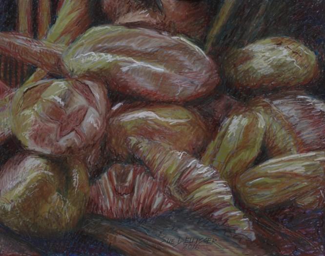"""""""bread"""" original fine art by Sue Deutscher"""