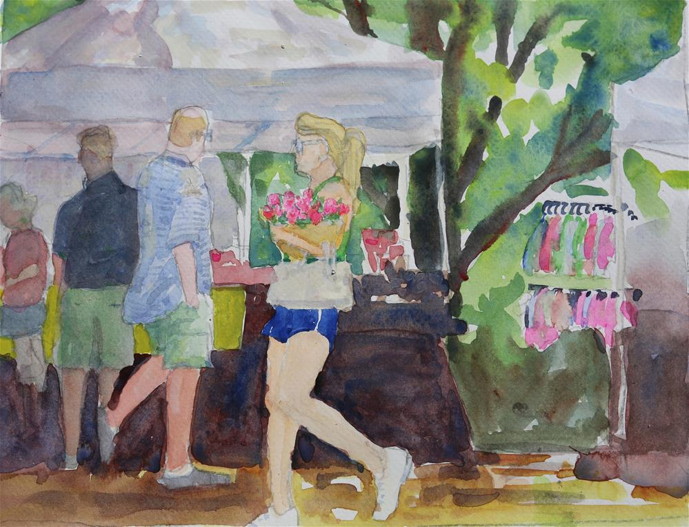 """Flowers--Farmers Market"" original fine art by Michael Saunders"