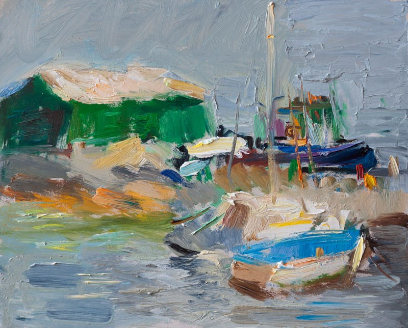 """Morning Pier"" original fine art by Anna  Fine Art"