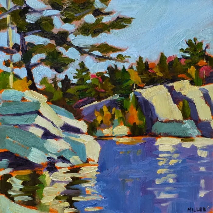 """Lake Minnewaska"" original fine art by Jessica Miller"