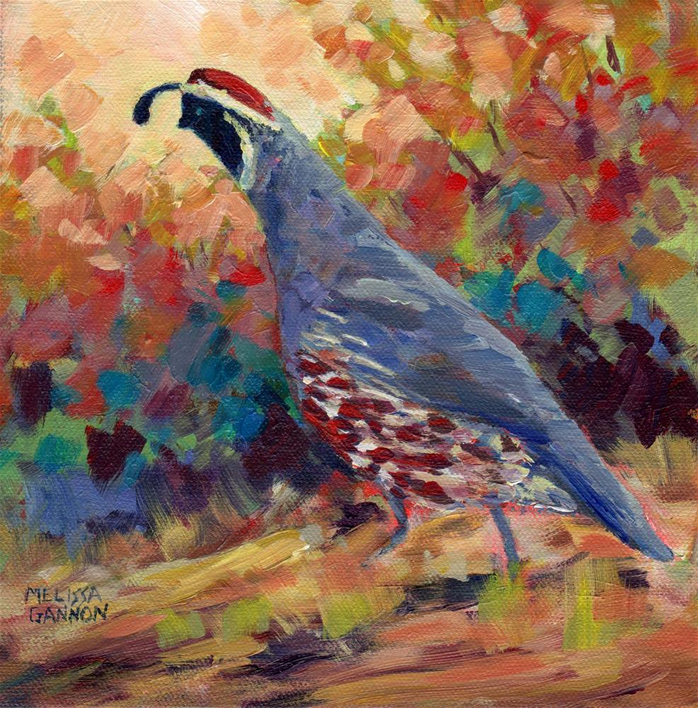"""Colorful Walk"" original fine art by Melissa Gannon"