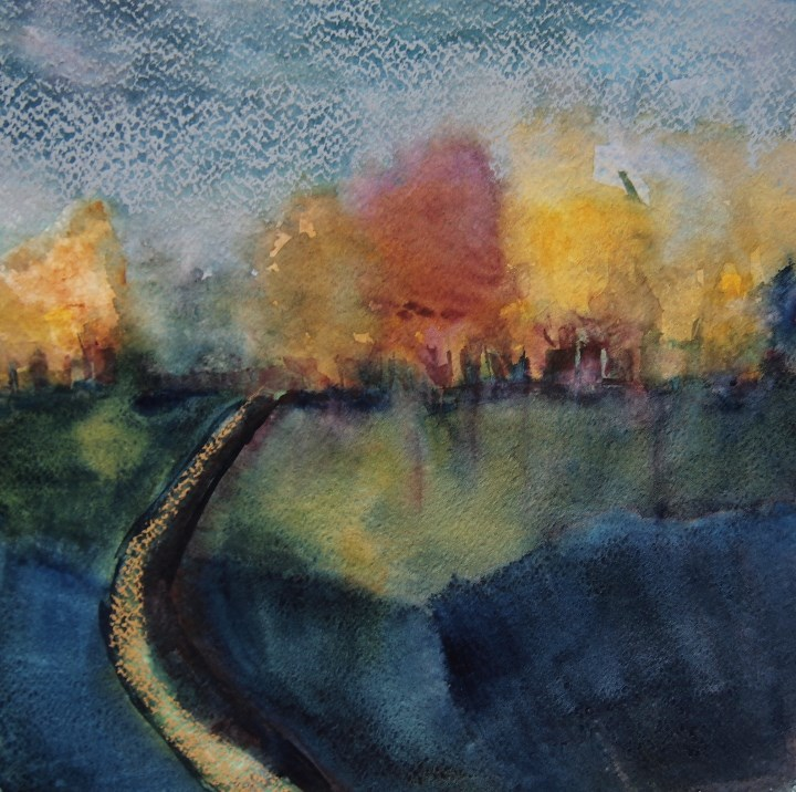 """Curved Road"" original fine art by Amy Bryce"