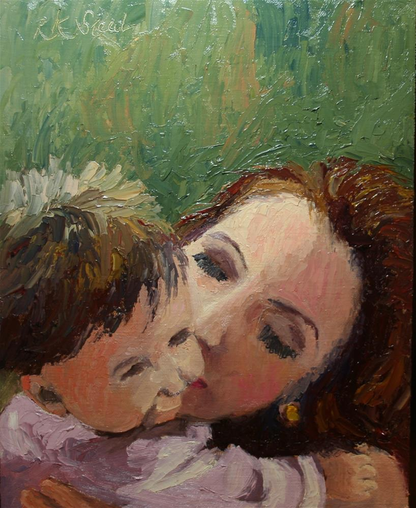 """Baby Kiss"" original fine art by Roxanne Steed"