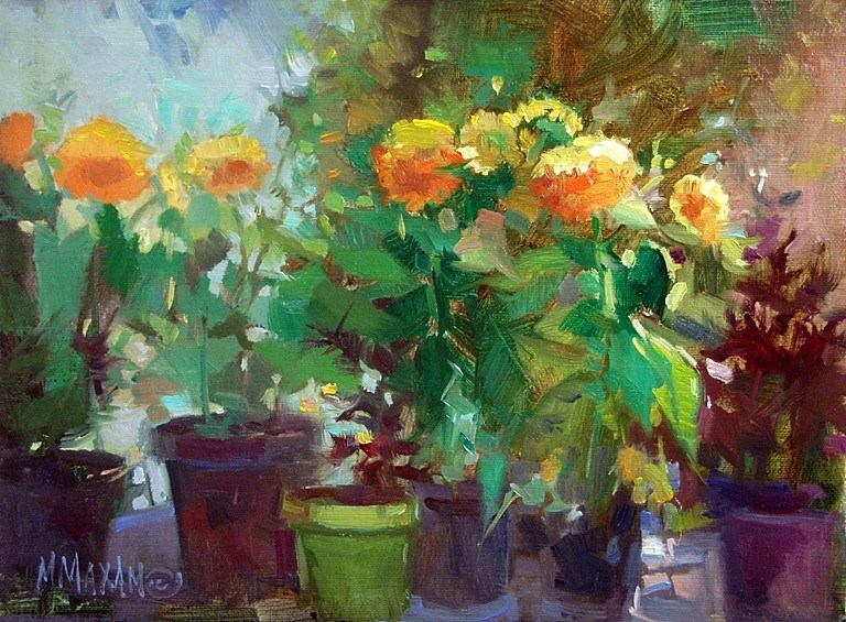 """Sun Gold Mix"" original fine art by Mary Maxam"