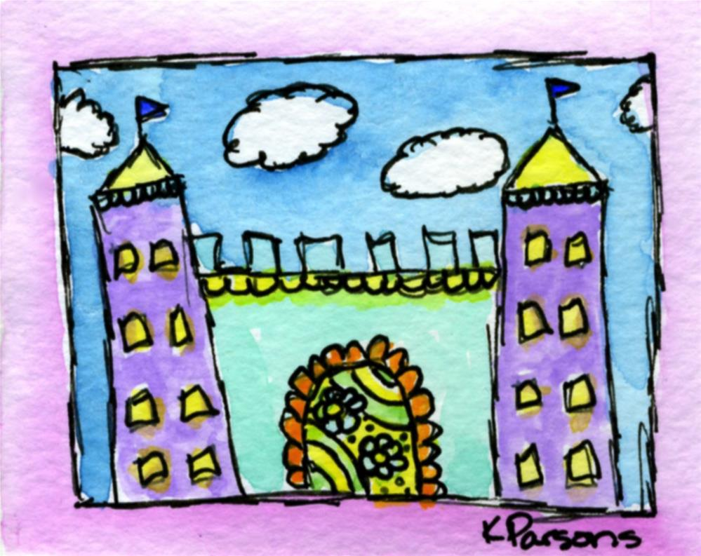 """Tiny Castle"" original fine art by Kali Parsons"